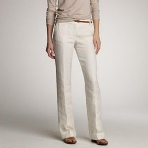 J. Crew Cafe Trouser in Linen Size 12